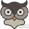 owl head vector art