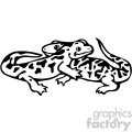 cartoon clipart reptiles 010 bw