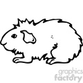cartoon clipart guinea pig 001 bw