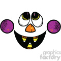 scary funny face vector art
