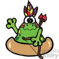 native american frog cartoon art