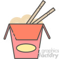 noodle box vector royalty free icon art
