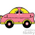cartoon pink car