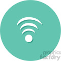 wifi wireless signal circle background vector flat icon