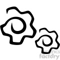 gears vector flat icon