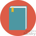 book circle background vector flat icon