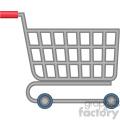 shopping cart vector flat icon