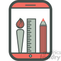 painting app smart device vector icon