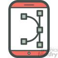 vector editing smart device vector icon