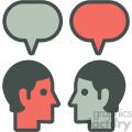 social media messaging vector icon