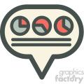 social data sets vector icon