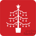white christmas tree vector icon