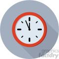 clock on gray circle background
