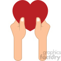 giving love valentines vector icon no background