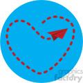 love letter flight pattern for valentines blue background