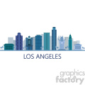 downtown los angeles vector