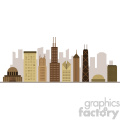 chicago city buildings vector