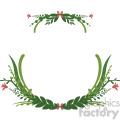 floral wreath frame vector clipart