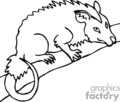 ant eater ant eaters   anml117_bw clip art animals