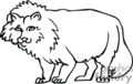 wolf wolves   anml127_bw clip art animals  gif