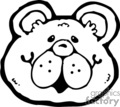 black and white cartoon bear face gif, eps