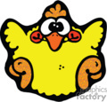 cartoon baby chicken, yellow