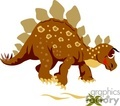 Brown cartoon dinosaur with spots