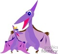 cartoon pterodactyl family