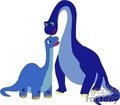 two blue dinosaurs