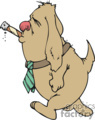 cartoon dog smoking a cigar