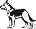 pet pets dog dogs german shepard   animal_ss_bw_009 clip art animals dogs  gif