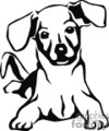 pet pets dog dogs puppies   animal_ss_bw_016 clip art animals dogs  gif