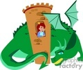 dragon dragons cartoon fantasy castle princess   dragon022yy clip art animals dragons