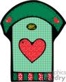 green birdhouse gif, eps