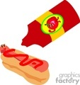 ketchup on a hotdog