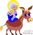 mary on a donkey