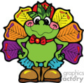 country style turkey turkeys frog frogs   turkey006pr_c clip art holidays thanksgiving  gif, eps