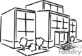 medical hospital hospitals building buildings   helth029_bw clip art medical