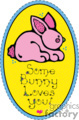 Bunny plaque with some bunny loves you