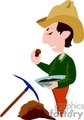 work working occupational occupations people gold miner miners   gold005-9-04 clip art people