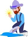 work working occupational occupations people gold miner miners   gold011-9-04 clip art people