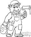 occupations work working occupational painter painters painting handyman   working_058-b clip art people occupations