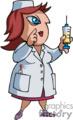 nurse holding a needle