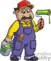 occupations work working occupational painter painters painting handyman   working_058-c clip art people occupations