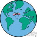 cartoon planet earth vector clip art image