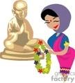 woman praying to buddha gif, jpg