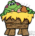 country style baby babies frog cartoon crib cribs   babyjesus002pr_c clip art religion  gif, eps