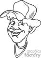 lady wearing a baseball cap gif