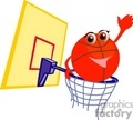 basketball basketballs sports   1004basketball001 clip art sports basketball
