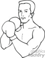 boxing boxer boxers   sport170_bw clip art sports boxing  gif